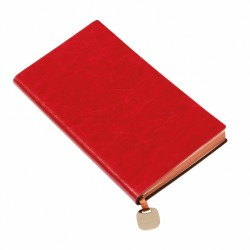 - 9,5X17,5 NOTEBOOK DIARY RED