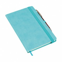 - 13x21 NOTEBOOK DIARY TURQUOISE BLUE