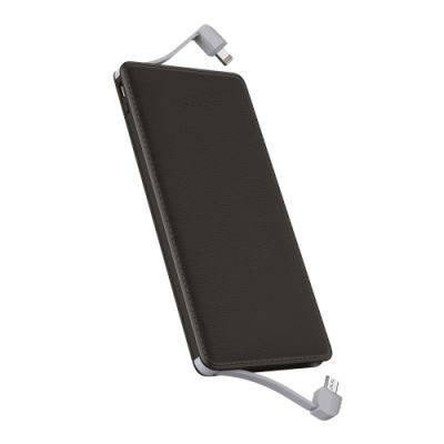 - LEATHER POWERBANK BLACK