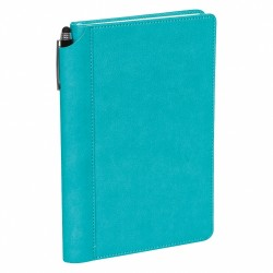- 15,5x23,5 NOTEBOOK DIARY TURQUOISE BLUE